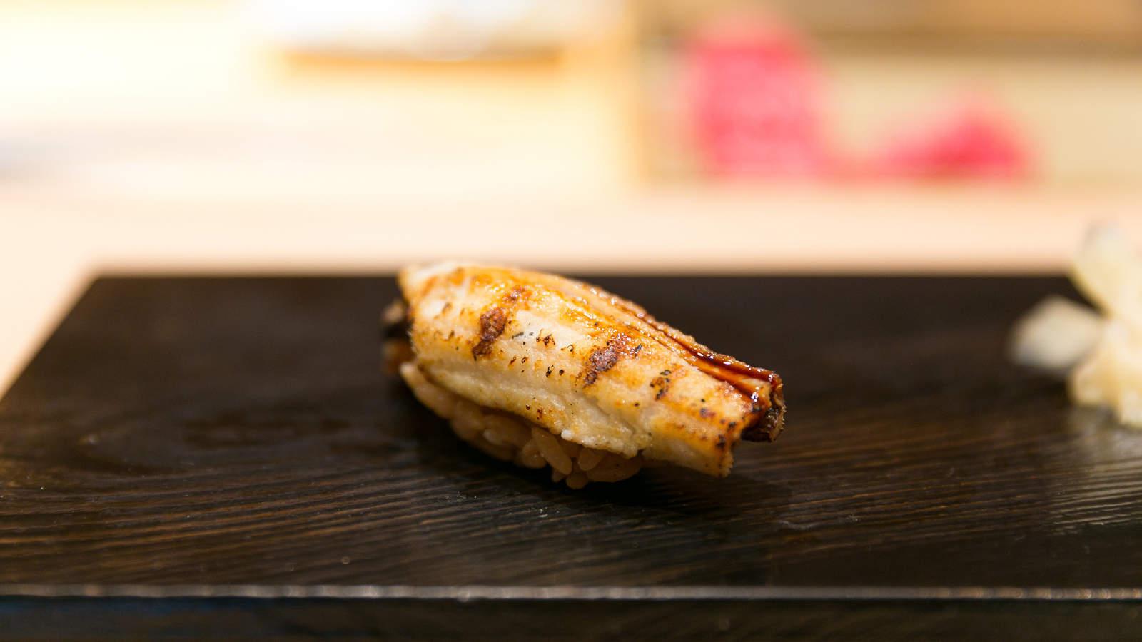 Anago Sushi, 穴子 (Saltwater Eel)