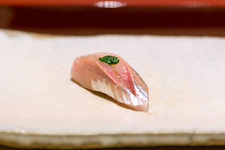 Shima-Aji Sushi, 縞鯵 (Striped Jack)